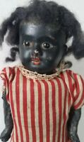 "Antique Black Bisque Head German Doll 5Part Composition Body 9""Boy or Girl Child"