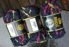 Three Skeins Lion Brand Boucle Mach/Wash Yarn In Licorice (discontinued)