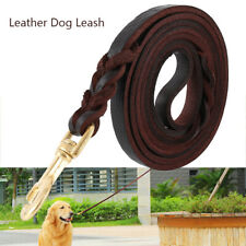 Leather Dog Leash Large Medium Dogs Heavy Duty Braided For Training and Walking