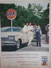 1957 Gulfpride HD Select Motor Oil Vintage Car Service Station Original Ad