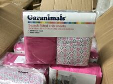 NEW Garanimals 2-pack Fitted Crib Sheets 200 Thread Pink 100% Cotton 28'' X 52''
