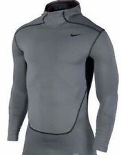New Mens Medium NIKE Hyperwarm Dri Fit Max Compression Rashguard Hoody Shirt