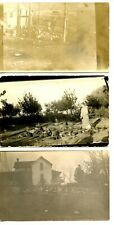 Farm Chickens-Woman Feeds Poultry-RPPC-Vintage Real Photo Postcard Lot of 3