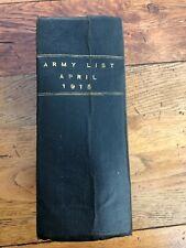 More details for army list april 1915 ( large hardback book )