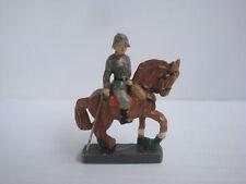 Figurine ancienne composition cavalier soldat allemand lineol durso elastolin