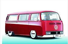Blechschild 20 x 30 cm, VW Bus Nostalgie