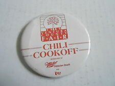 VINTAGE PROMO PINBACK BUTTON #111-015 - CHILI COOK-OFF 1989 VENTURA COUNTY FAIR