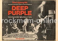 Deep Purple Made In Japan Uriah Heep Silverhead Bron Agency Advert 25/11/72