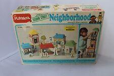PLAYSKOOL1977 VTG SESAME STREET NEIGHBORHOOD PLAYSET almost complete