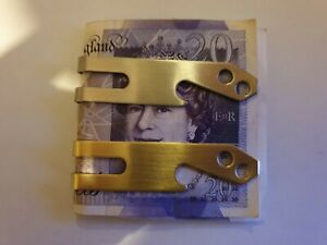 Stainless Steel Metal Money Clip With Bottle Opener