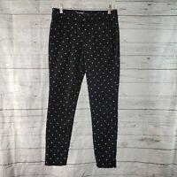 Old Navy Womens Pixie Pants Sz 4 Black White Polka Dot Mid Rise