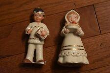 Lenox- Pilgrim Girl & Native American Indian Boy Figurines-set of 2-Nib