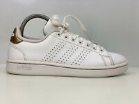 Adidas Advantage Women's White Leather Trainers UK Size 5
