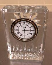 "Elegant WATERFORD Ireland Crystal LISMORE Signed CLOCK 4"""