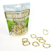 10-Country Brook Design® 1 Inch Brass Plated Welded D-Rings