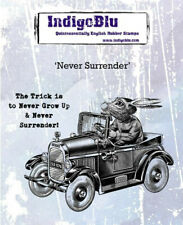 IndigoBlu Never Surrender Mounted Rubber Stamp  NEW  :: A6  Rubber Stamps