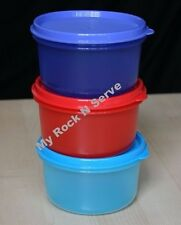 TUPPERWARE (3)  Multi-purpose Snack Dip Serving Center Bowl 14 oz New