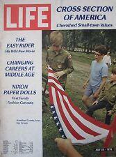 MAGAZINE LIFE de JUILLET 1970 EASY RIDER NIXON BOY SCOUTS CROSS SECTION AMERICA