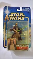 STAR WARS Attack of The Clones Eath Koth Hasbro 2002 Mint On Card, Blue Card