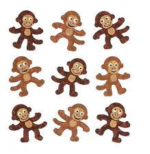 Sandylion Vintage GLITTERY Cute Monkey Monkies Stickers 1 Square RETIRED