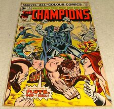 MARVEL COMICS THE CHAMPIONS # 2 VF- 1975 UK PRICE VARIANT