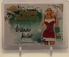 BRANDIE MOSES BENCHWARMER HAPPY HOLIDAYS AUTOGRAPH AUTO CARD #22/25
