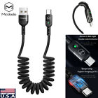 MCDODO Retractable USB Type-C LED Fast Charger Nylon Data Charging Cable Cord