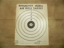Vintage Winchester Western Air Rifle Targets & Rodent Target On Back - 4 Count