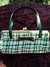 ladies new look bag good condition pink and white.