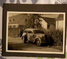 Foto KFZ car Auto Opel Junge  Boy Olympia militär fahne wimpel X1