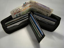 Gents Soft Leather Zip Around Wallet With Space for 14 Credit Cards Bill Fold
