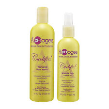 Aphogee Curlific Curl Textured Hair Wash&Moisture Rich Leave-In Conditioner Set