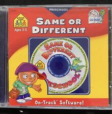 Same or Different Preschool Ages 3-5On-Track Software Cd Rom