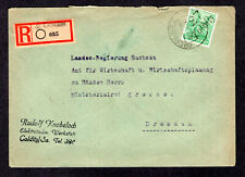 1948 Germany Soviet Zone HOP, Bezirk 27 COLDITZ, Registered Cover, Mi # 181 V