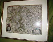 Antike Landkarte Kupferstich Dietz/Nidda ca. 17. Jhd.