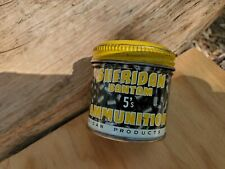 Vintage Sheridan Bantam 5's Tin Early Yellow Lid Racine Wis.- 20 cal Pellets