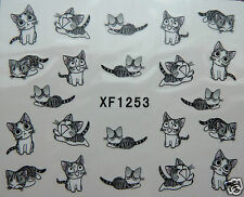 3d nail stickers, Cute Cats, water transfer stickers, UK SELLER