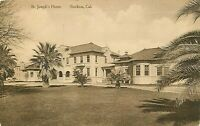 DB Postcard CA H129 Albertype Sepia St Josephs Home Stockton 1916 Street View