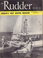 The Rudder September 1955 Junior Day At Larchmont, Sailbooats 032217nonDBE