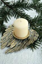 Kerzenhalter Messing Engelsflügel 11x14cm Flügel Kerzenteller Kerzenständer