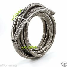 1 Meter AN -6 AN6 Stainless Steel Braided Fuel Line Oil Gas Hose 1M 3.3 FEET