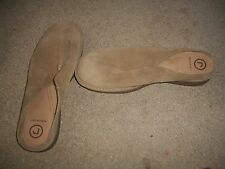 Women's Rockport  Slide Sandals Size 8,5M BEIGE SUEDE GUC  FREE SHIPPING