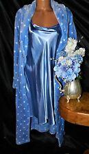 Nightgown Peignoir Set. XL, NWOT Somona/NWT Del Rossa. Violet, fluffly & satiny.