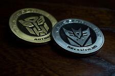 Transformers 2PCS  Optimus Prime Autobot Decepticon 24K Gold & Silver Coin Set