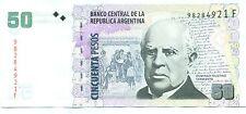 ARGENTINA NOTE 50 PESOS 2013 SERIAL F RARE M.DELPONT-DOMINGUEZ B# 3629 P 356 UNC
