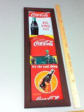 Coca-Cola sign handcraft Americana wood framed soda signs 1 bottling Co. UQ2