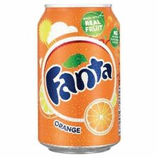 Fanta Orange 330ml cans fizzy soft drink 24 Pack with real fruit juice A00769