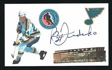 Bernie Federko signed autograph auto 3x5 index card NHL Hall of Fame