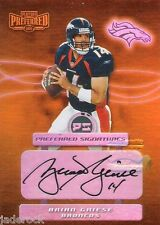 Brian Griese 2001 Playoff Preferred Signatures Gold Autograph #9 (#23/25) AUTO