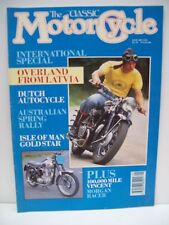 Classic Motor Cycle Magazine, 11 issues 1991 no May